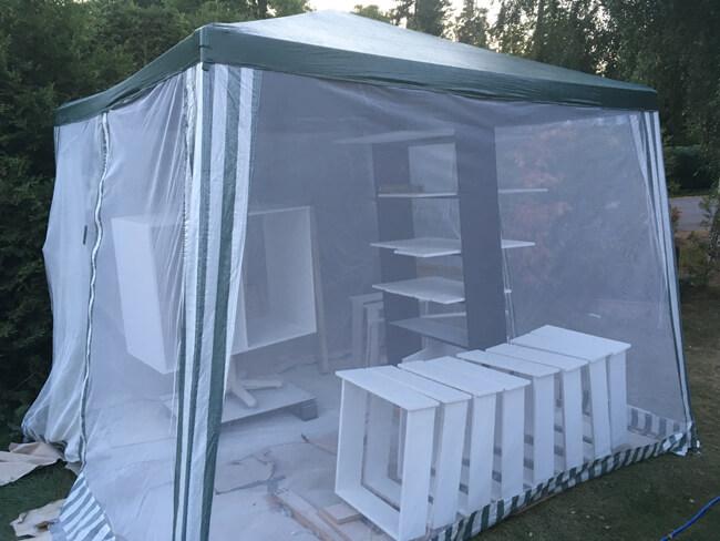 teltta-pystyssa